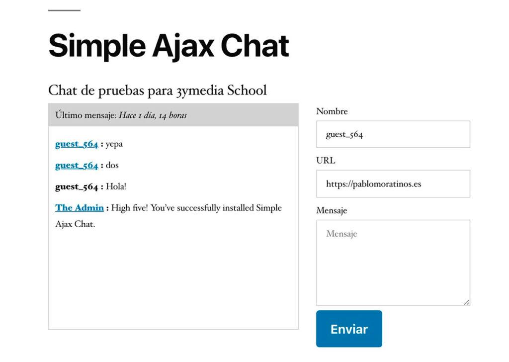 Simple Ajax Chat