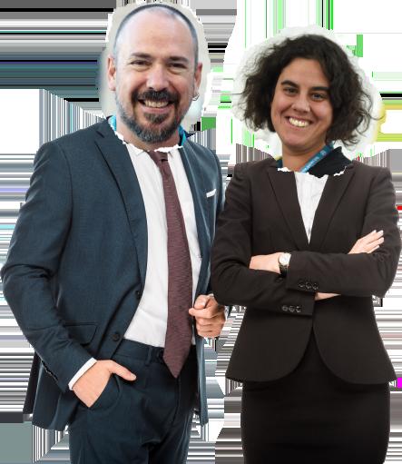 Pablo Moratinos y Ana Cirujano